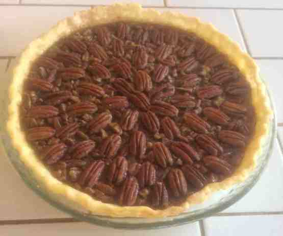 maddi's pecan pie that won the pie contest