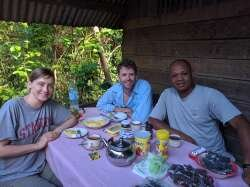 breakfasts in Masoala with our guide
